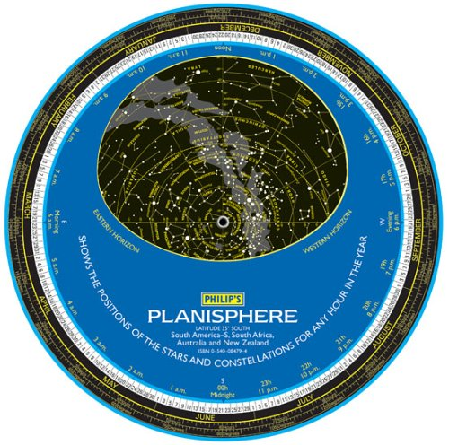 9780540084791: Planisphere: Shows the Position of the Stars and Constellations for Every Night of the Year: Latitude 35 Degrees - Australia, New Zealand, Southern Africa & Southern America (Philip's Astronomy)