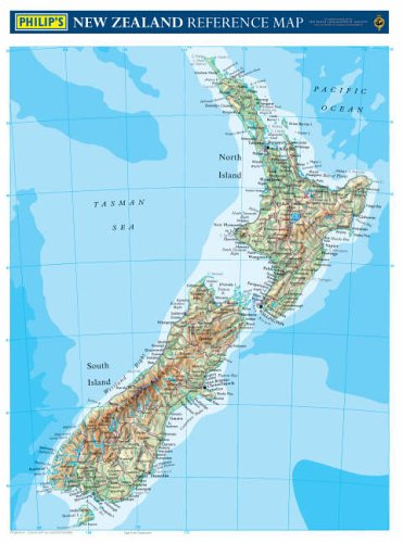 9780540085712: Philip's Reference Map: New Zealand: Physical (Philip's Wall Maps)