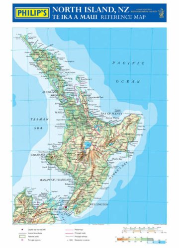 9780540085736: Philip's Reference Map: New Zealand North Island: Physical
