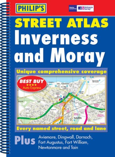 9780540086511: Philip's Street Atlas Inverness and Moray