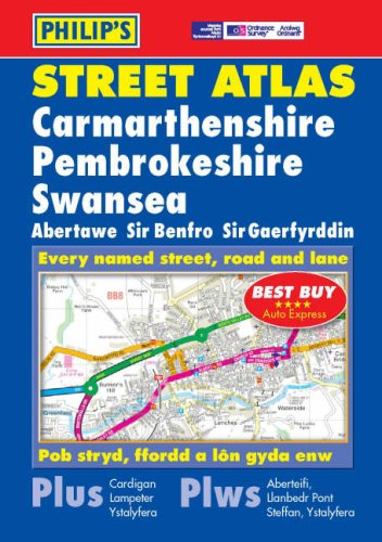 9780540086627: Philip's Street Atlas Carmarthenshire, Pembrokeshire and Swansea: Pocket (Philip's Street Atlases)