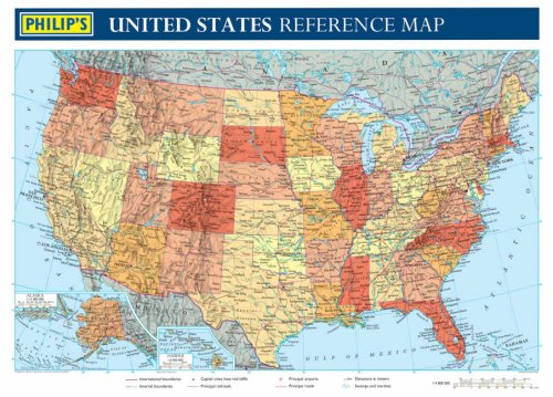 9780540087167: Philip's United States Reference Map