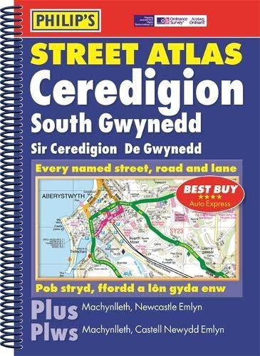 9780540087242: Philip's Street Atlas Ceredigion, South Gwynedd (English and Welsh Edition)