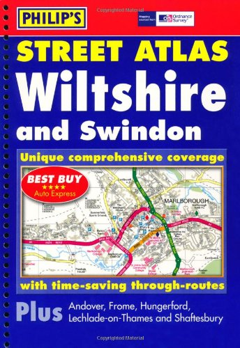 9780540087709: Philip's Street Atlas Wiltshire and Swindon: Spiral Edition