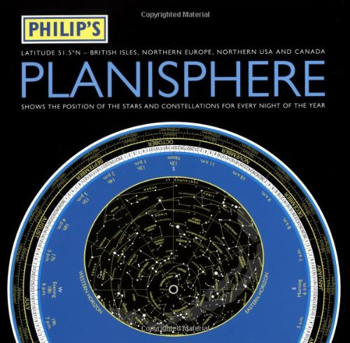 9780540088171: Philip's Planisphere: Northern 51.5 Degrees - British Isles, Northern Europe Northern USA and Canada (Philip's Astronomy)