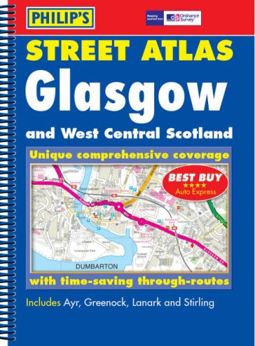 9780540088348: Philip's Street Atlas Glasgow and West Central Scotland (Philip's Street Atlases)