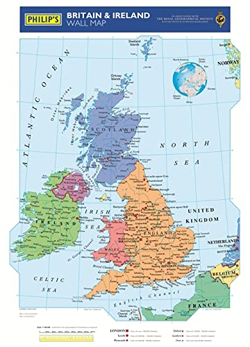 9780540091584: Philip's Britain and Ireland Wall Map