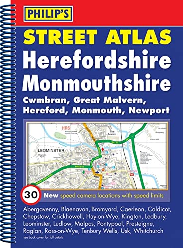 9780540092079: Philip's Street Atlas Herefordshire and Monmouthshire