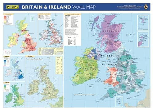 9780540092369: Philip's Britain and Ireland Wall Map