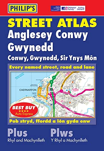 9780540094813: Philip's Street Atlas Anglesey, Conwy and Gwynedd (Street Atlases)