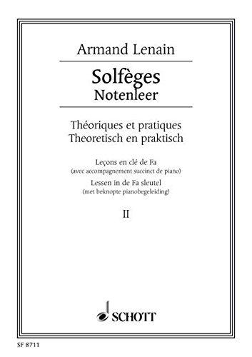 9780543501141: SCHOTT LENAIN JEAN - SOLF�GES BAND 2 - VOICE AND PIANO Partition classique Vocale - chorale Choeur et ensemble vocal