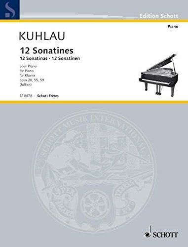 9780543508515: 12 Sonatinas (Op. 20, 55, 59) Piano