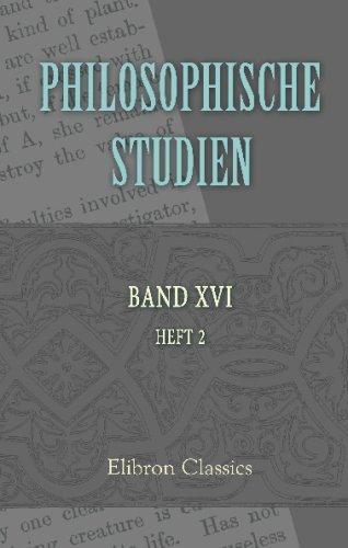 9780543677327: Philosophische Studien: Herausgegeben von Wilhelm Wundt. Band 16. Heft 2