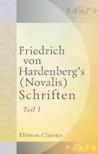 9780543692689: Friedrich von Hardenberg's (Novalis) Schriften: Teil 1