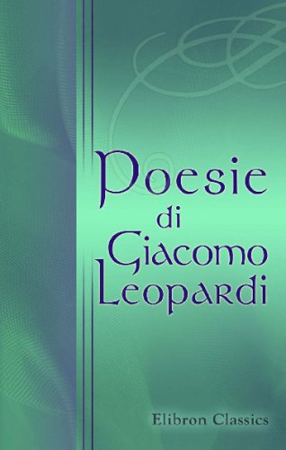 9780543730312: Poesie di Giacomo Leopardi