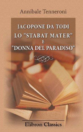 9780543737984: Jacopone da Todi. Lo