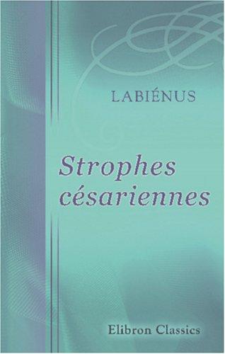 9780543830340: Strophes c�sariennes