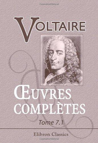 9780543862587: Œuvres complètes de Voltaire (French Edition)