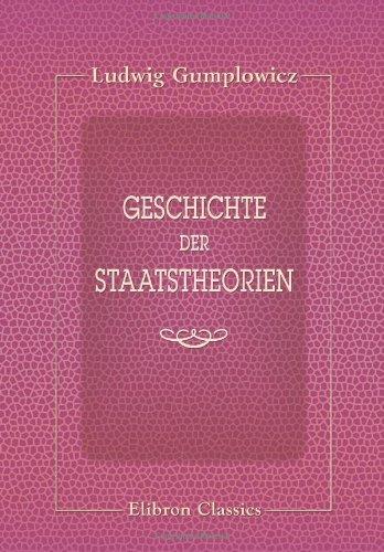 9780543870230: Geschichte der Staatstheorien