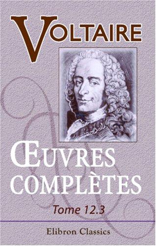 9780543871640: Œuvres complètes de Voltaire (French Edition)