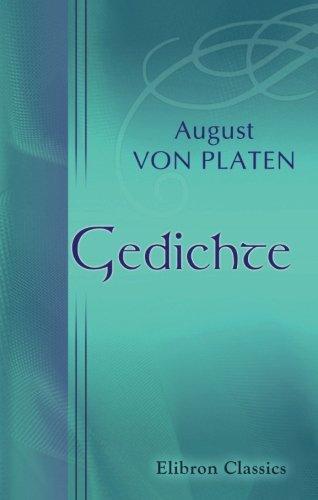 Gedichte (German Edition): Von Platen, August
