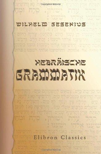 9780543941008: Hebräische Grammatik (German Edition)