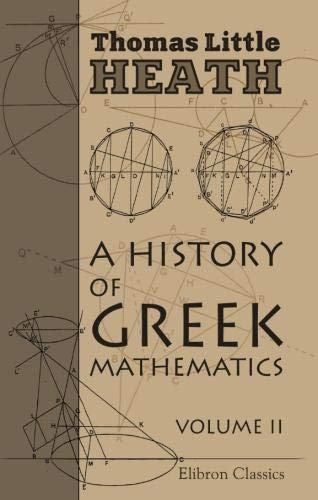 9780543968777: A History of Greek Mathematics: Volume 2. From Aristarchus to Diophantus