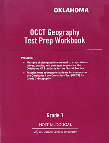 9780544029767: World Geography Oklahoma: Test Prep Grade 7 Eastern Hemisphere