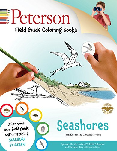 9780544033993: Peterson Field Guide Coloring Books: Seashores [With Sticker(s)]