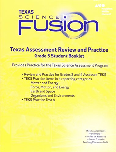 9780544046160: Houghton Mifflin Harcourt Science Fusion Texas: Texas Assessment Review and Practice Grade 5