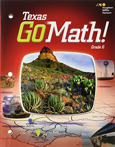 9780544051676: Go Math Texas: Student Interactive Worktext Grade 6 2015