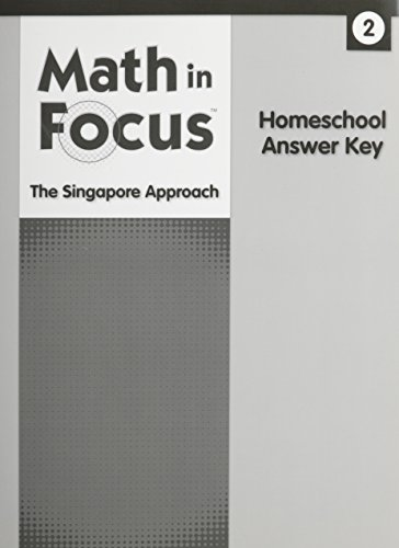 9780544053922: Math in Focus: Singapore Math: Homeschool Answer Key Grade 2
