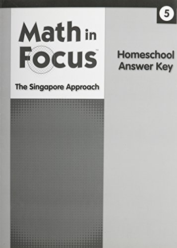 9780544054639: Math in Focus: Singapore Math Homeschool Answer Key Grade 5