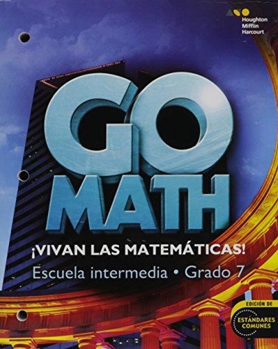 9780544064188: Go Math! Spanish: Student Interactive WorkText Grade 7 (Spanish Edition)