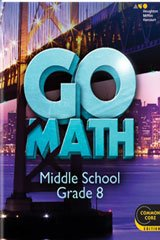 9780544065512: Go Math! Middle School Grade 8