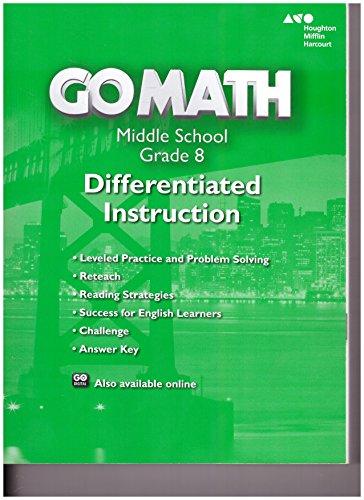 9780544066366: Go Math!: Differentiated Instruction Resource Grade 8