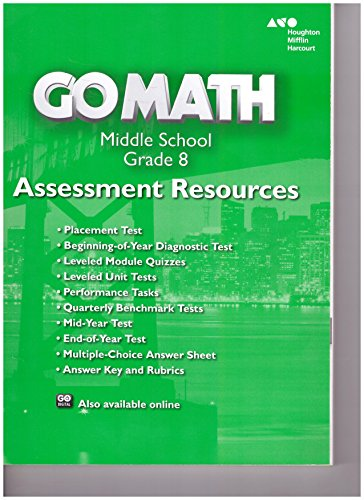 9780544066717: Go Math!: Assessment Resource with Answers Grade 8