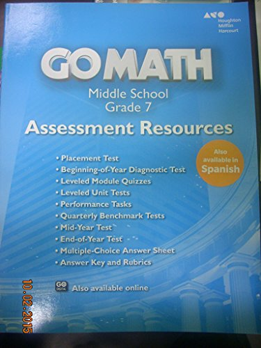9780544066816: Go Math!: Assessment Resource with Answers Grade 7