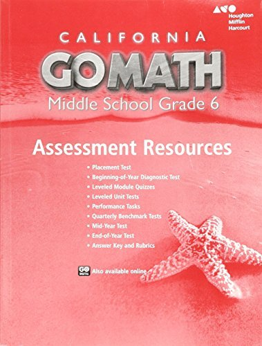 9780544066915: Go Math! Assessment Resource With Answers Grade 6