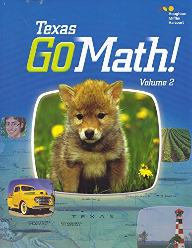 9780544086784: Houghton Mifflin Harcourt Go Math! Texas: Student Edition, Volume 2 Grade K 2015