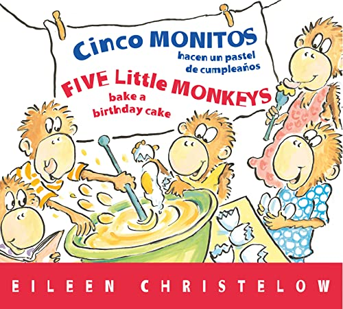9780544088993: Cinco monitos hacen un pastel de cumpleanos / Five Little Monkeys Bake a Birthday Cake (A Five Little Monkeys Story) (Spanish and English Edition)