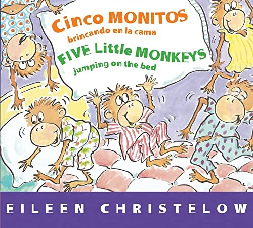9780544089006: Cinco monitos brincando en la cama/Five Little Monkeys Jumping on the Bed (A Five Little Monkeys Story) (Spanish and English Edition)