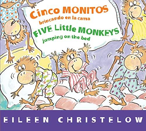 9780544089006: Cinco monitos brincando en la cama/Five Little Monkeys Jumping on the Bed (A Five Little Monkeys Story) (Spanish and English Edition)