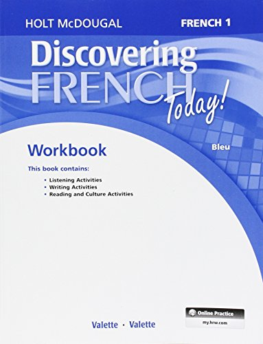 9780544107052: Discovering French Today: Workbook with Review Bookmarks Level 1 (French Edition)