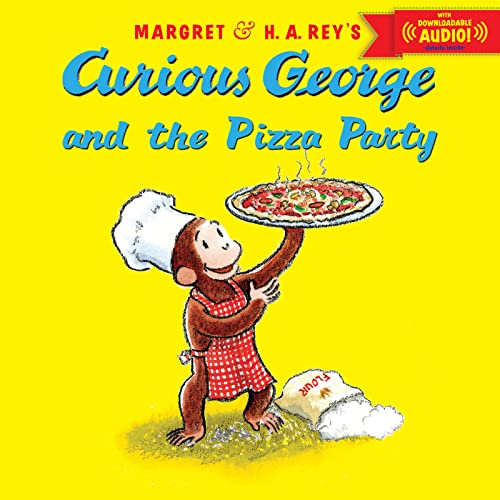 9780544109889: Curious George and the Pizza Party with downloadable audio