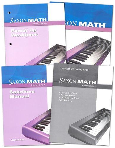 Saxon Homeschool Intermediate 4: Homeschool Package: SAXON PUBLISHERS