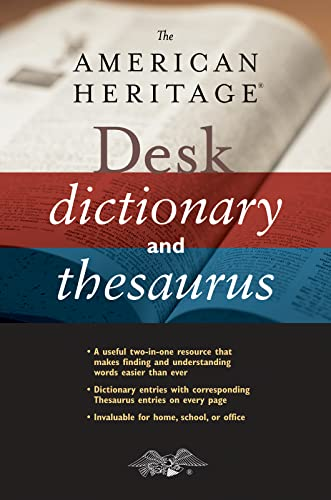 9780544176188: The American Heritage Desk Dictionary and Thesaurus