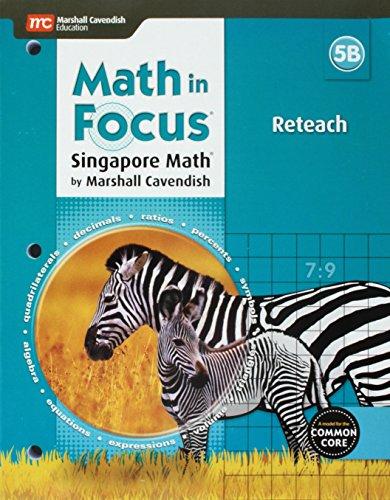 9780544192560: Math in Focus: Singapore Math: Reteach Blackline Master B Grade 5