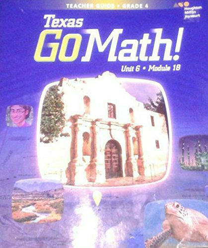 9780544192935 Houghton Mifflin Texas Go Math Teacher Guide Grade  Module 18