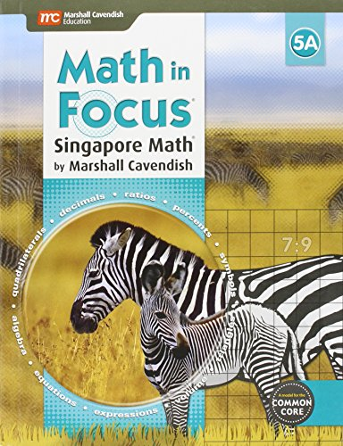 9780544193635: Math in Focus: Singapore Math: Student Edition, Book A Grade 5 2015